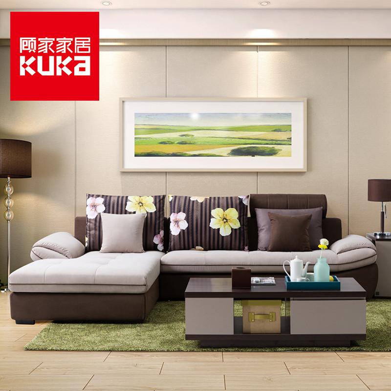 顾家家居 爆款布艺沙发可拆洗组合大小户型欧式客厅布