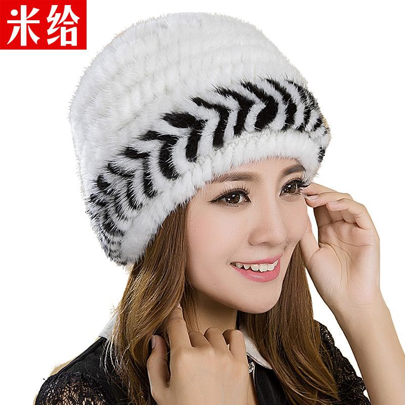毛线老人帽中老年人帽子女冬加厚奶奶中年妈妈编织帽