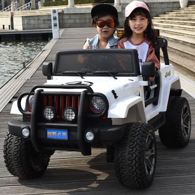 【顺丰快递】儿童电动车四轮越野汽车双人座超大号遥控玩具车可坐人快乐达电瓶车四驱80PP