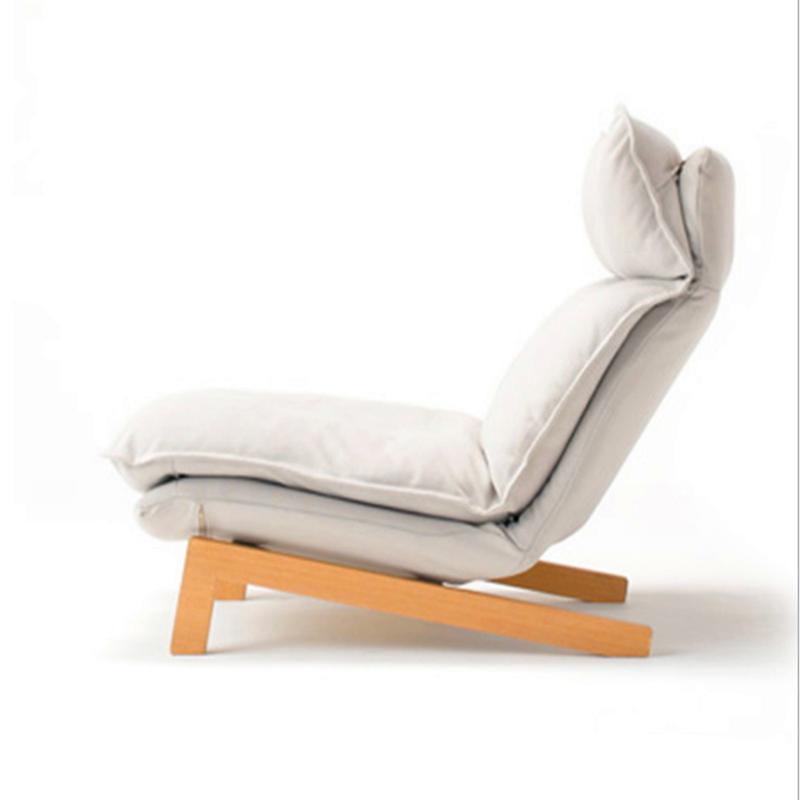 北欧日式懒人沙发 单人多功能卧室休闲沙发椅 客厅布艺沙发躺椅多功靠