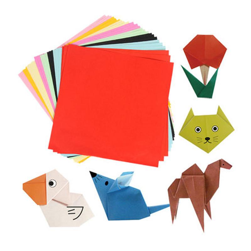 200张 彩色手工折纸剪纸材料 幼儿园手工彩纸