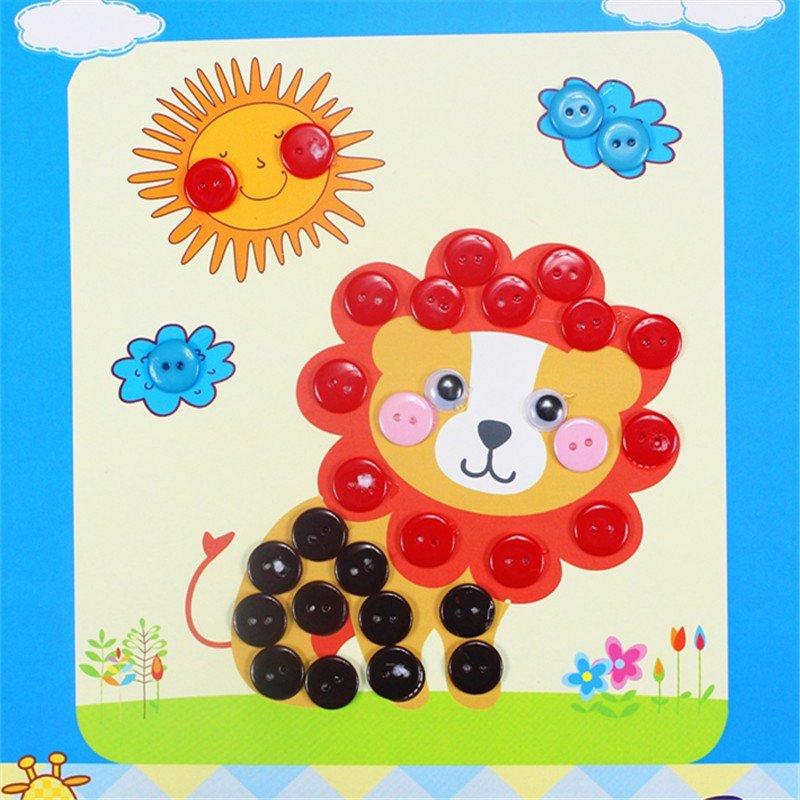众慧宝 diy纽扣画 儿童手工制作幼儿园粘贴画装饰画玩具 王子款 小