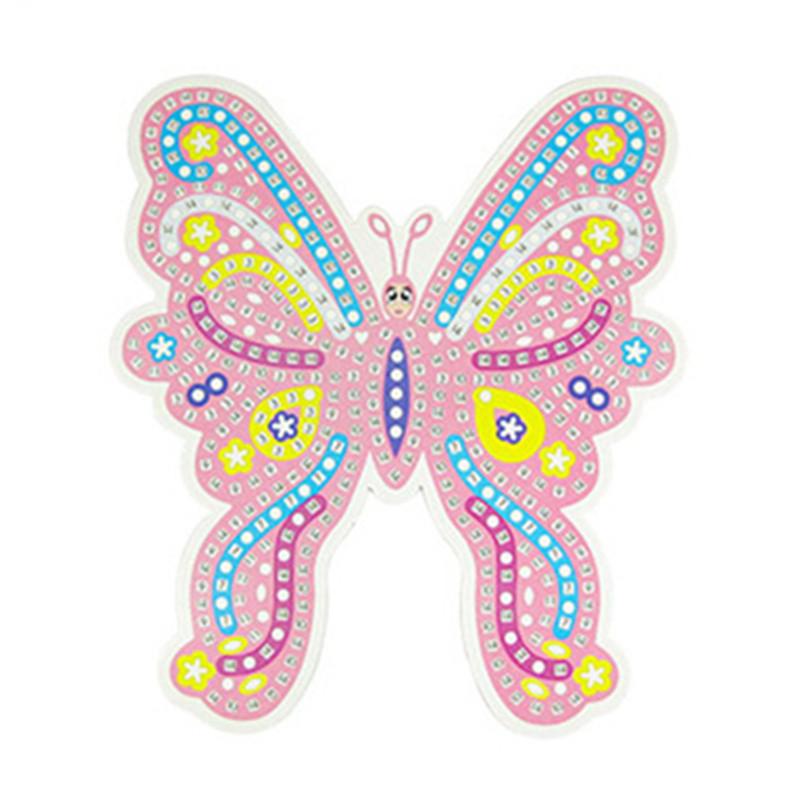 蝴蝶彩钻马赛克 eva闪光贴画幼儿园创意手工制作 共4款可选 蓝色蝴蝶