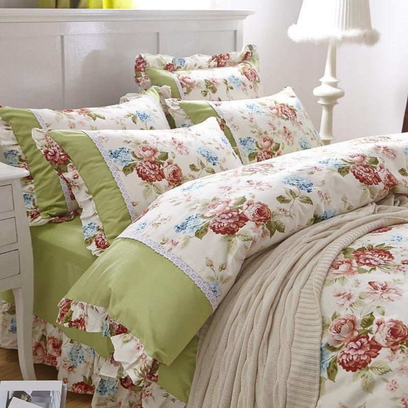 策序家纺韩版四件套床上用品 纯棉可爱公主被套床单床