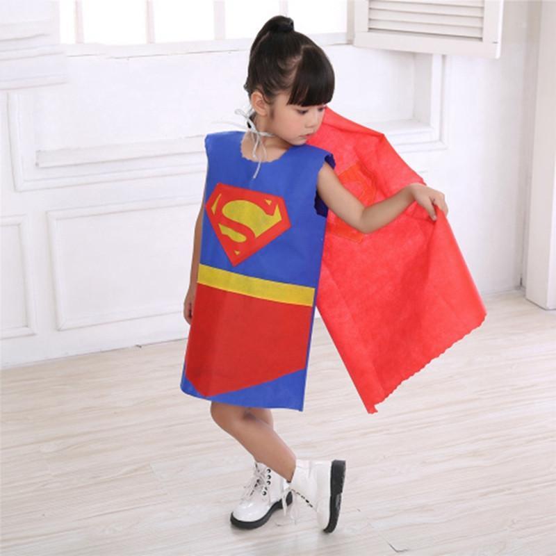 六一儿童节演出服环保服装儿童时装秀手工超人幼儿园亲子走秀表演图片