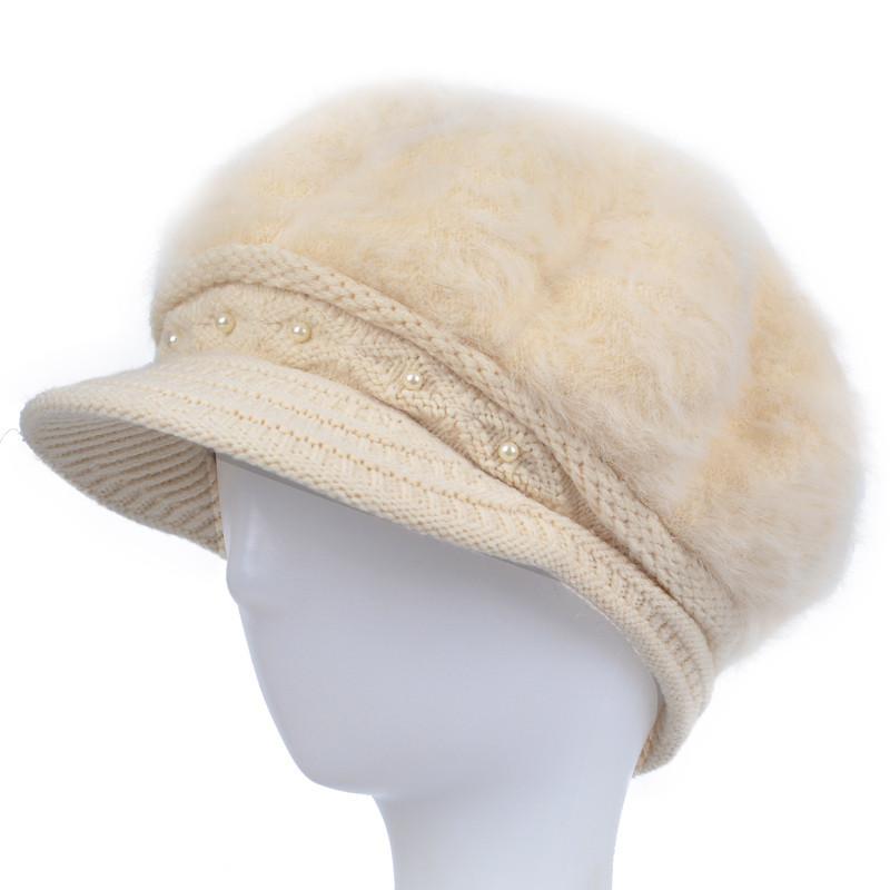 2017新款中老年人帽子 女冬天加厚针织老人帽子女奶奶冬季保暖妈妈兔图片