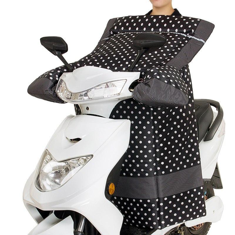 电动车挡风被冬季电瓶车挡风罩护膝护腰摩托连体男女防水加绒加厚