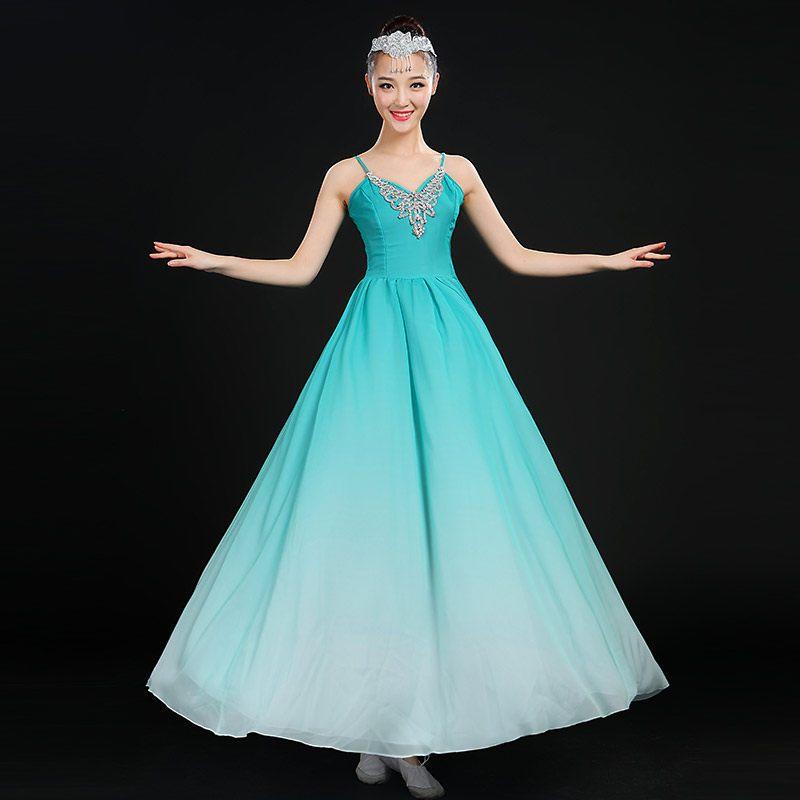现代舞演出服2016新款芭蕾舞表演服饰成人舞台时尚伴舞舞蹈服装女