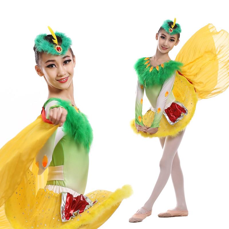 六一儿童节演出服儿童舞蹈服装小荷风采快乐的布谷动物鸟小鸟小鸡