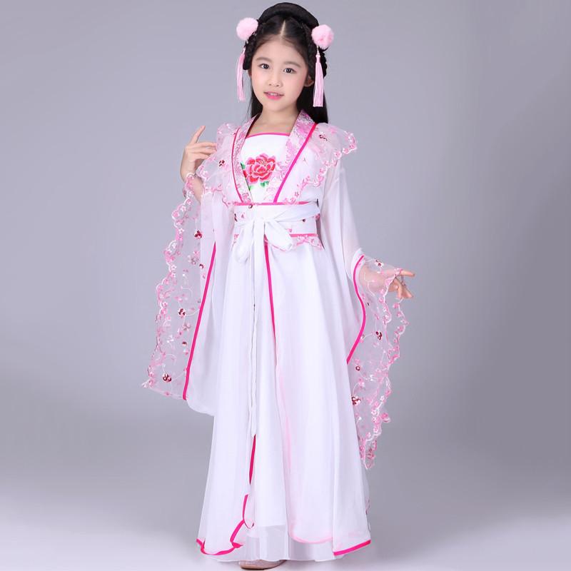 儿童古装仙女装 女童仙女装贵妃服装汉服儿童古典舞舞蹈演出服装