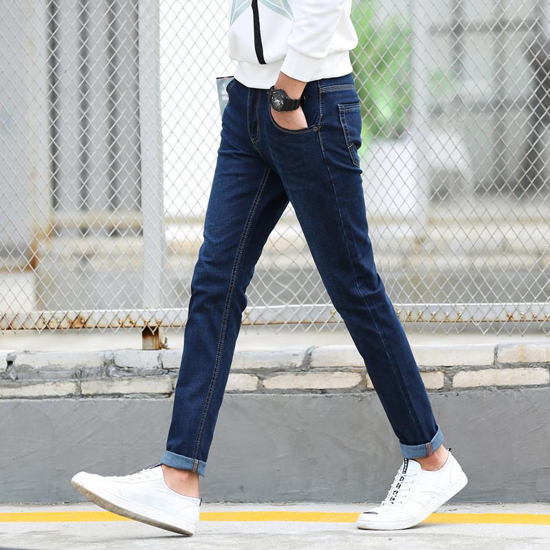韩雪青青2016男土牛仔裤直筒宽松青年男子秋冬款男