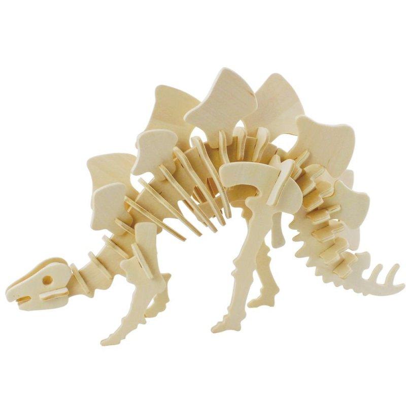 若态 木质3d立体手工拼装模型 儿童仿真益智拼插积木拼图玩具 创意