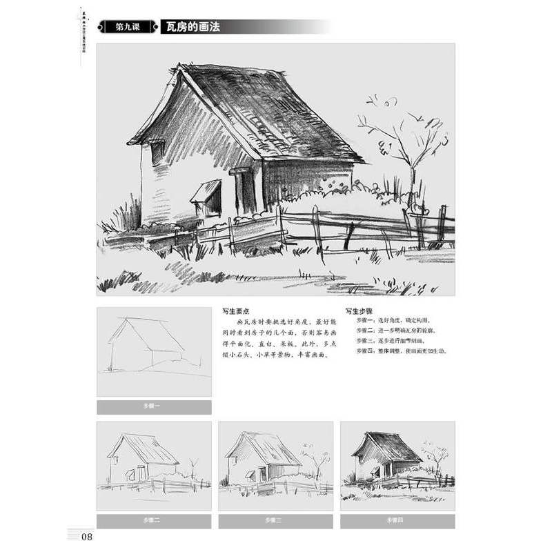 全6册 素描速写起步 素描静物结构几何体风景人物速写 基础美术技法