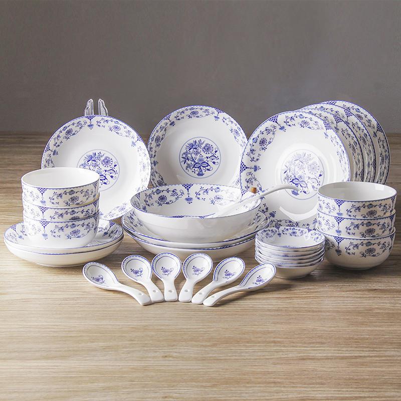 韵唐 心愿 釉中彩30头 陶瓷餐具套装 碗碟盘图片