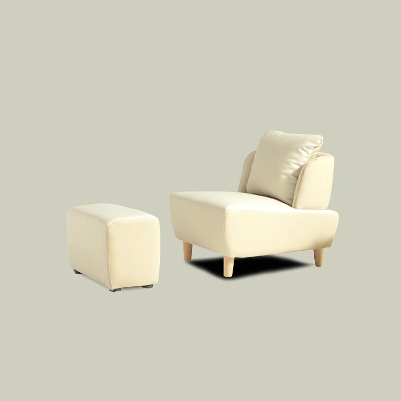 香格里湾 卧室懒人布艺沙发单人小沙发椅休闲卧室沙发