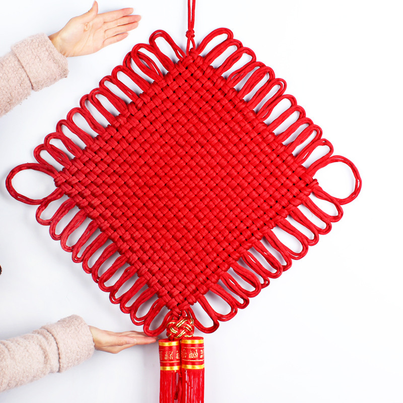 中国结家居装饰品工艺礼品 手工编织中国结挂件流苏大号穗子