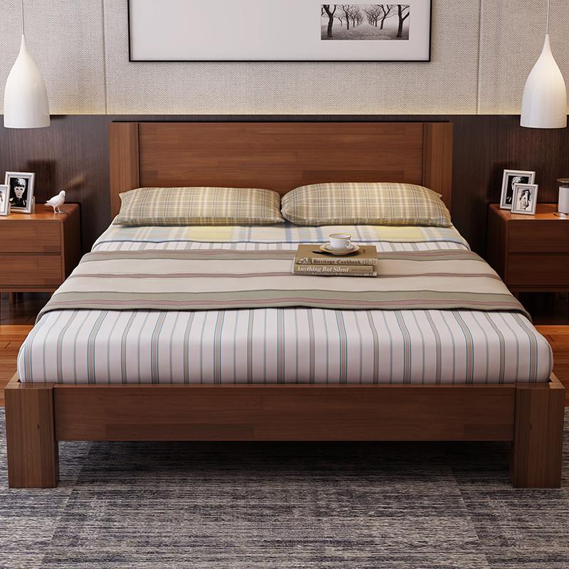 5米橡木床 北欧风1.8米简约床 婚床