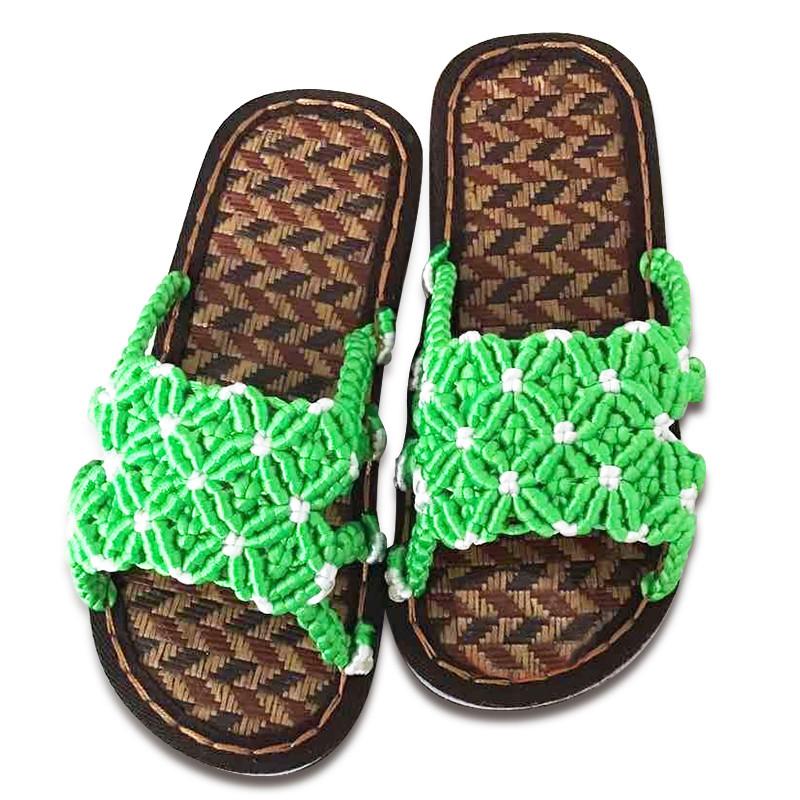 傲蒙 手工编织拖鞋 中国结5号线 结实耐穿 儿童拖鞋 孺子牛古藤鞋底