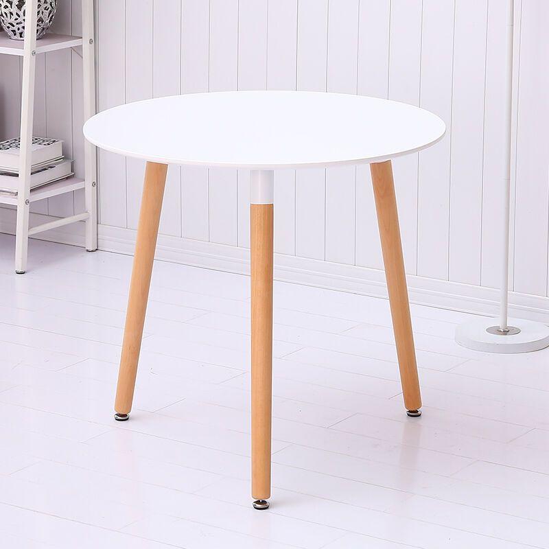 迈亚家具 伊姆斯实木圆桌方桌 木质洽谈桌 咖啡桌 宜家桌子