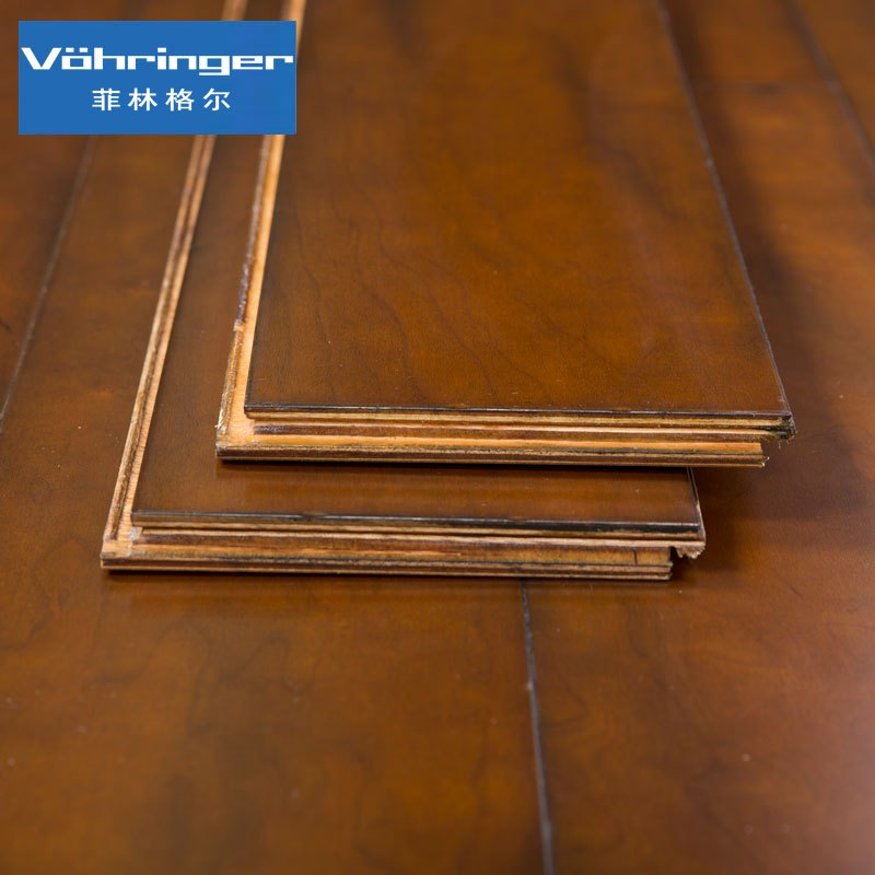 菲林格尔德国多层实木复合地板新古典主义樱桃木c08巴斯旧城15mm