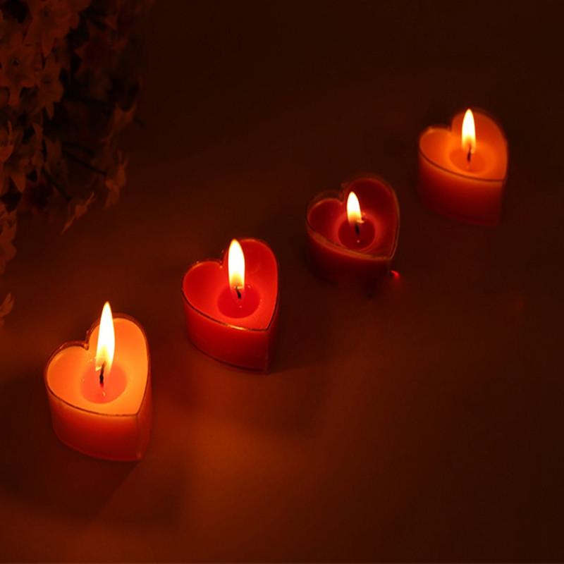 吟秀 浪漫生日派对婚庆蜡烛表白蜡烛 创意心形蜡烛 结婚蜡烛