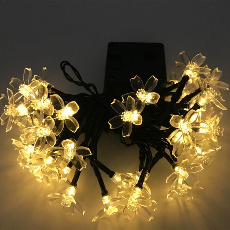 20头led樱花挂件 太阳能灯串圣诞节日装饰 小彩灯创意串灯