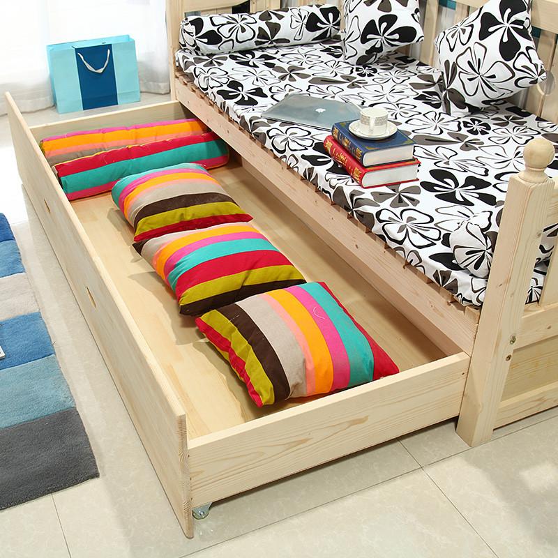 星曦菲 实木折叠沙发床1.2米 欧式简约推拉床 折叠床