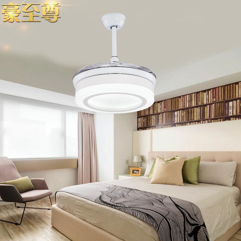 餐厅风扇灯现代卧室风扇吊灯客厅简约