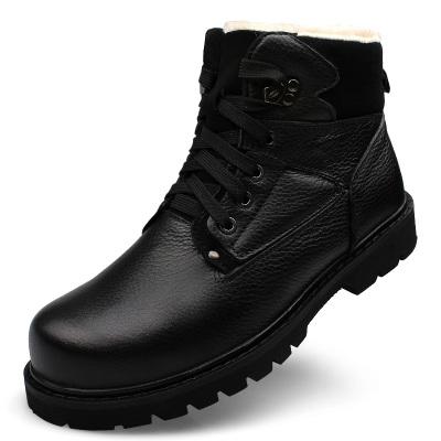 军靴男士特种兵作战靴冬季羊毛真皮雪地靴保暖军鞋棉靴子工装短靴