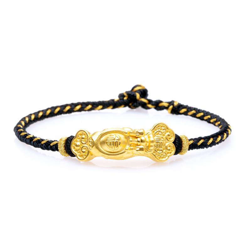 芭法娜 黄金转运珠 路路通转运珠 如意貔貅编绳手链心经红绳手链本命