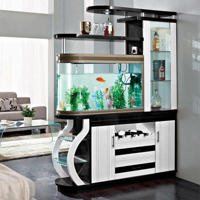 伊萊菲爾 玄關隔斷魚缸柜 雙面屏風隔廳酒柜帶魚缸門廳間廳柜儲物柜鞋柜