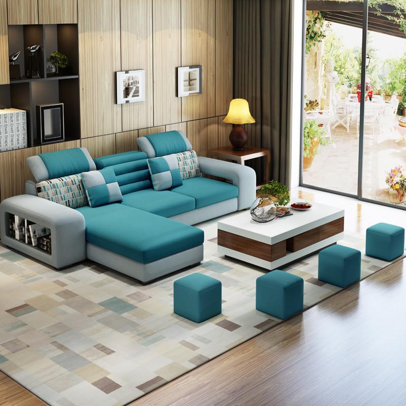 伊莱菲尔 布艺沙发组合可拆洗小户型客厅布艺沙发简约