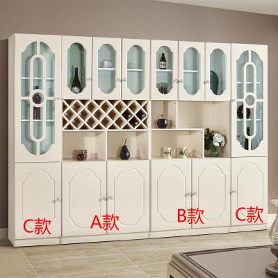 伊莱菲尔 简约欧式酒柜餐柜韩式田园餐边柜茶水柜储物柜橱柜装饰柜隔断柜