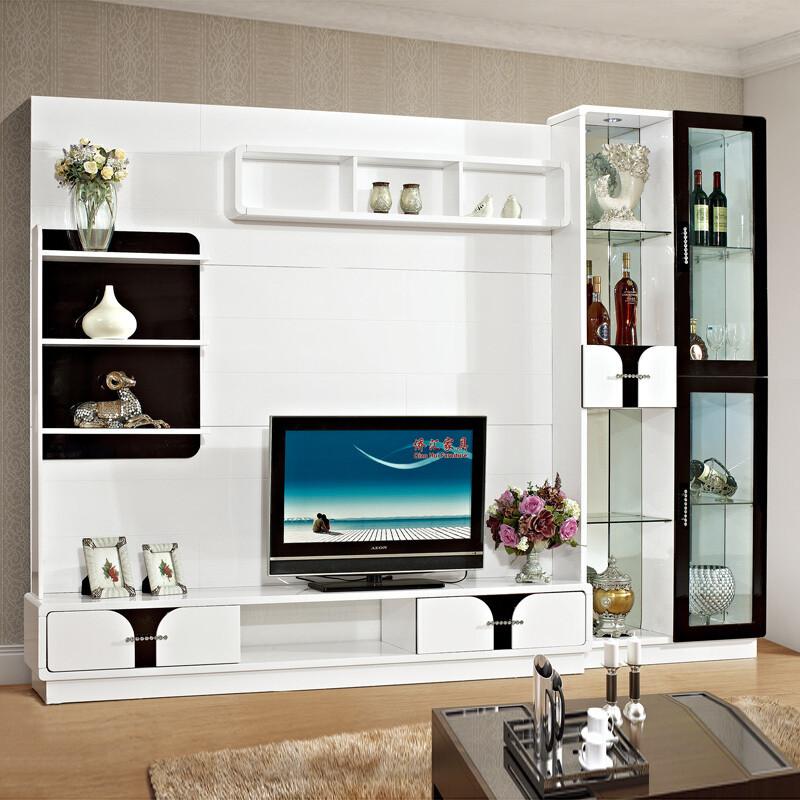 伊莱菲尔 现代电视墙柜背景柜影视柜酒柜地柜组合柜大