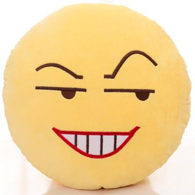 qq表情包抱枕 滑稽脸毛绒公仔恶搞笑动漫周边神器 阴险 长32cm,宽32cm图片
