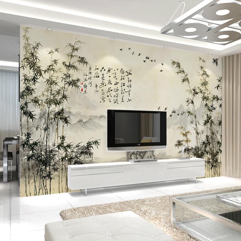卡茵 中式客厅电视背景墙壁纸 影视墙定制墙纸 沙发墙