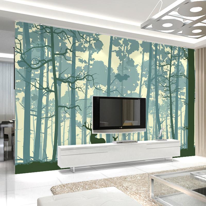 客厅影视墙壁纸