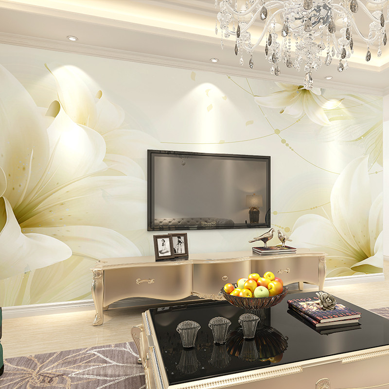 卡茵现代简约3d立体客厅电视背景墙纸无缝墙布卧室壁纸影视墙大型壁画