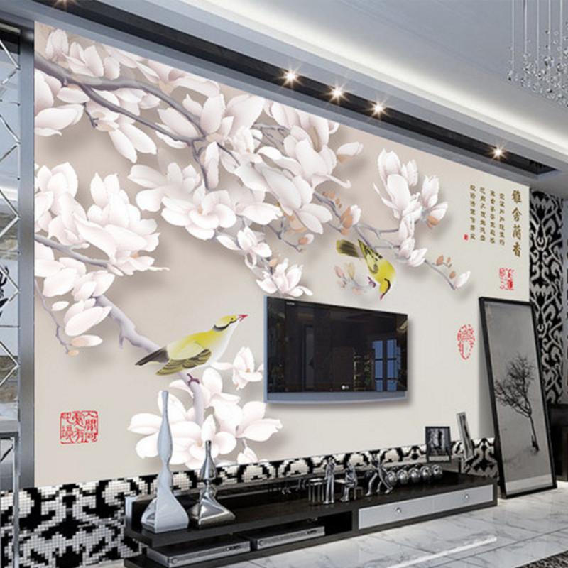 卡茵 创意电视背景墙壁纸 简约中式卧室墙纸 现代淡雅图片