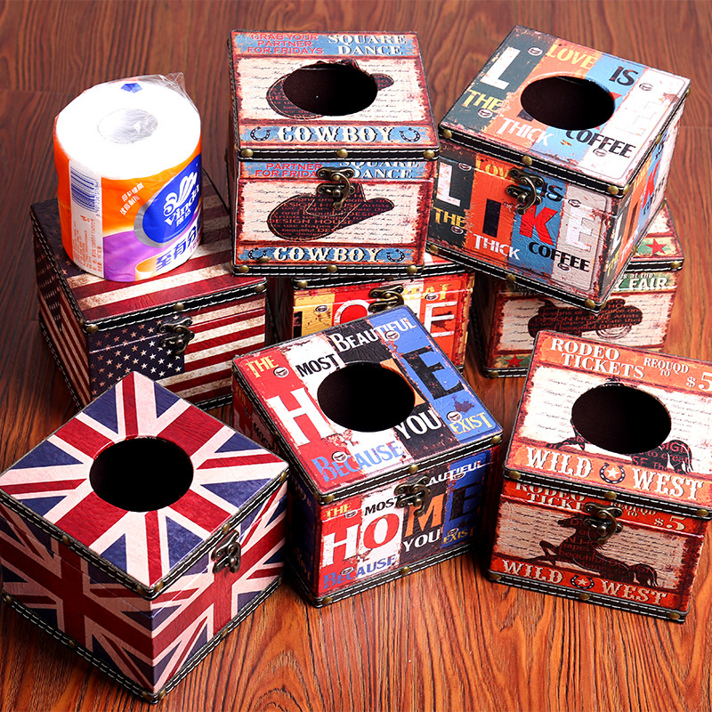 餐巾纸盒 客厅卷纸筒 皮质防水纸巾盒 纸巾收纳盒 方形圆形纸桶 家居
