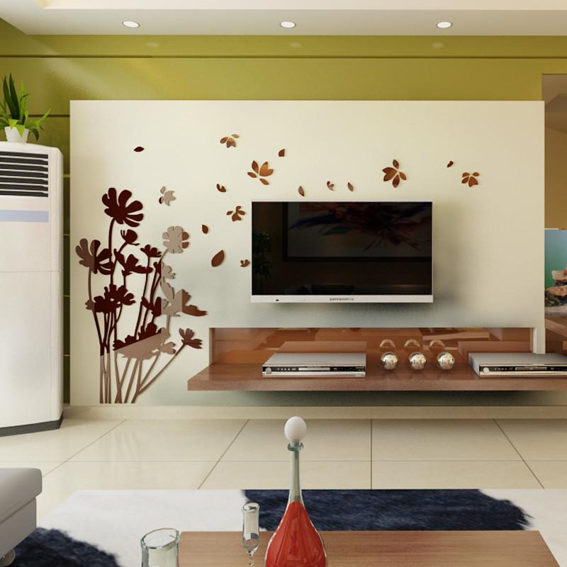 立体贴纸贴画 电视背景墙墙贴 立体亚克力墙贴 墙面装饰品 客厅卧室