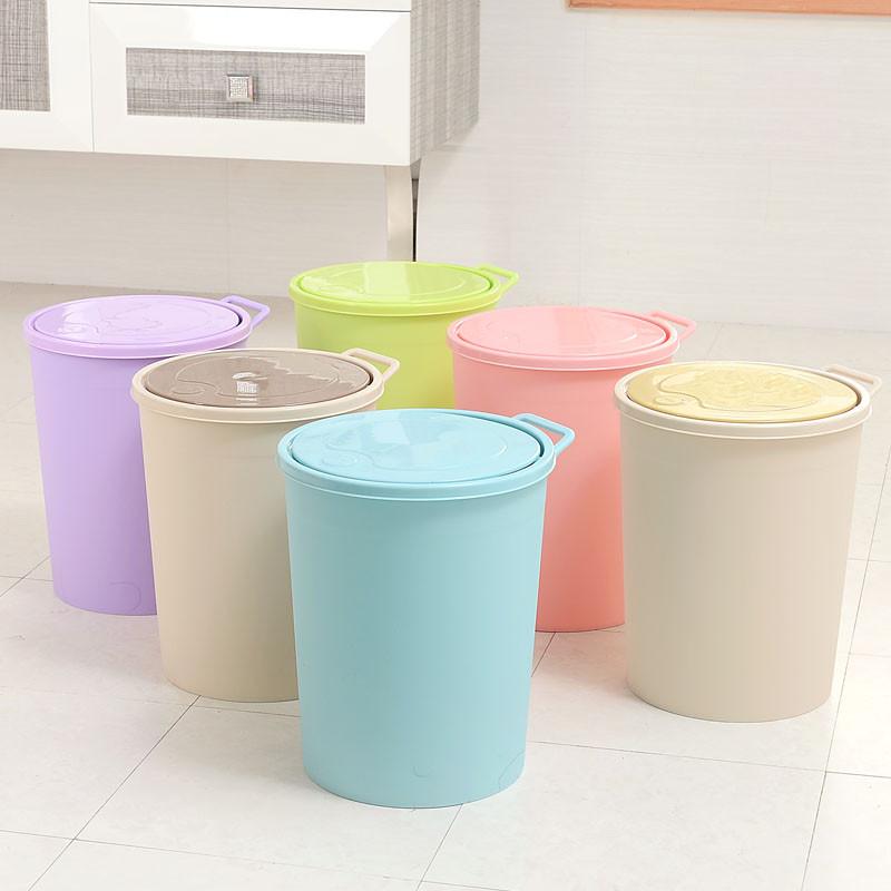 创意简约按压式家用垃圾桶 防臭卫生间客厅厨房可手提