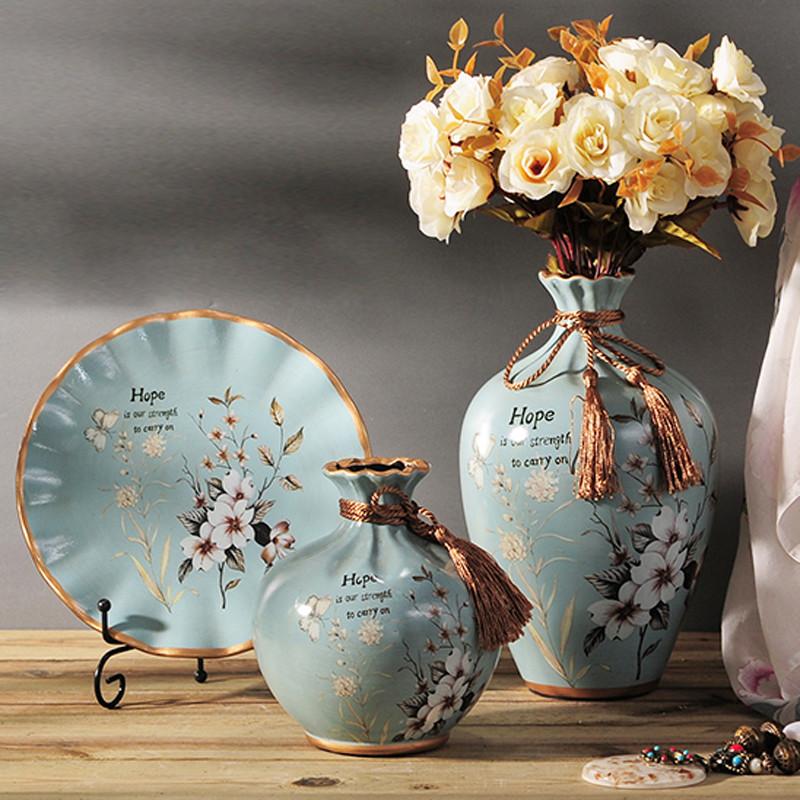 欧式陶瓷花瓶 插花器 摆件 摆盘 家居装饰品 客厅电视图片