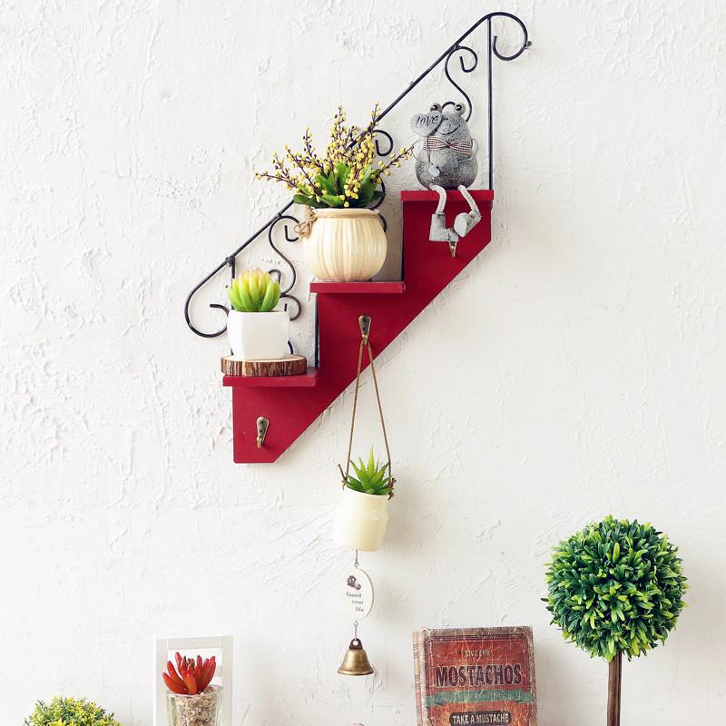 咖啡厅挂钩 墙面装饰品 欧式创意楼梯壁挂 家居客厅阳台花架-楼梯壁挂