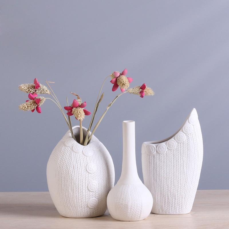 水培陶瓷花瓶办公桌摆件欧式创意家居装饰品客厅酒柜工艺品摆件-扣子图片