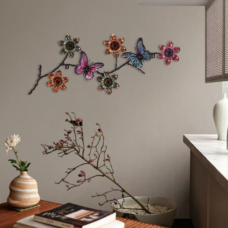铁艺壁饰壁挂新中式立体金属创意墙壁挂件背景墙面装饰玄关挂件壁饰