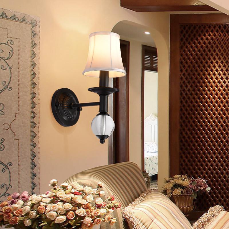 地中海田园床头壁灯 新古典后现代简欧式复古客厅