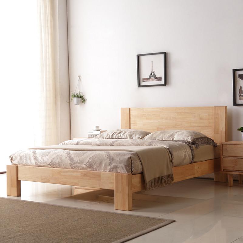美梦居 全实木床原木家具单人1.5特价双人床头1.