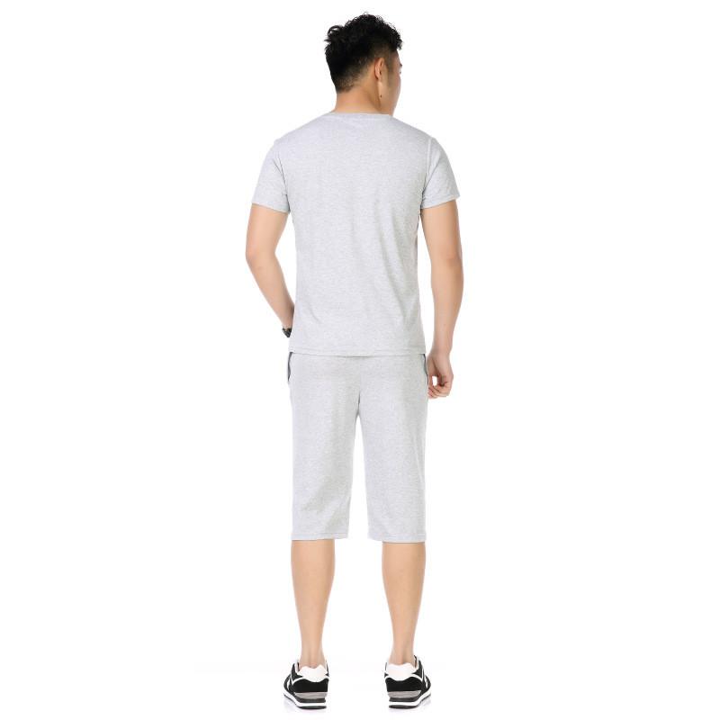 卓胜基运动套装中年男士短袖t桖短裤夏季薄款爸爸加大