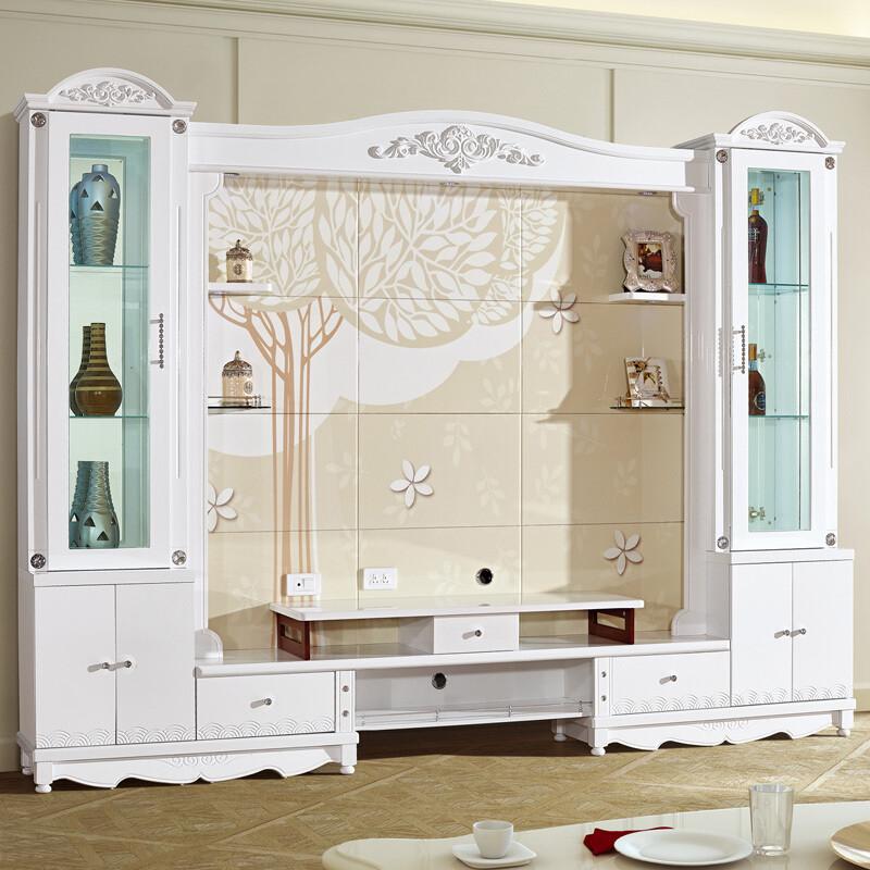 琪幻 欧式电视柜背景墙柜影视柜酒柜组合柜3d印花烤漆图片
